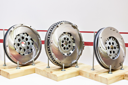 Flywheel in the car store Фото со стока
