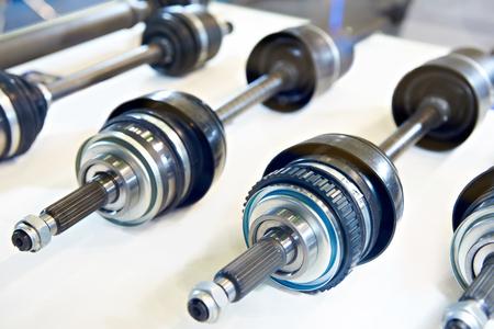 Driveshaft axles in car shop