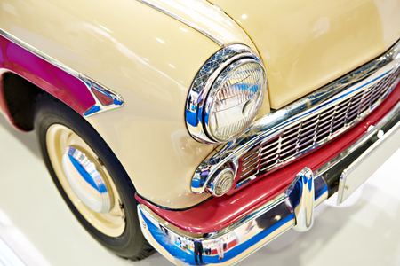 Headlight and bumper old retro car
