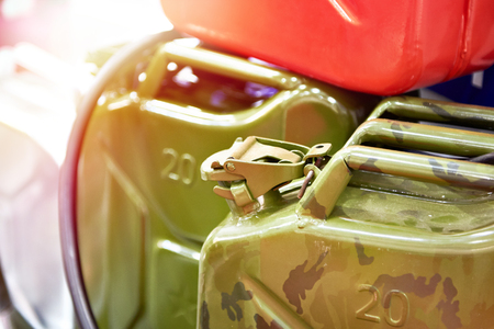 New jerrycans for gasoline in the store