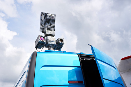 Mobile radar on car for aircraft