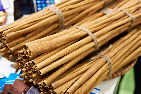 Cinnamon in a bunch at market