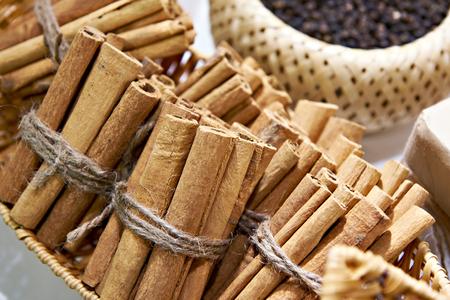 Cinnamon brown closeup in store