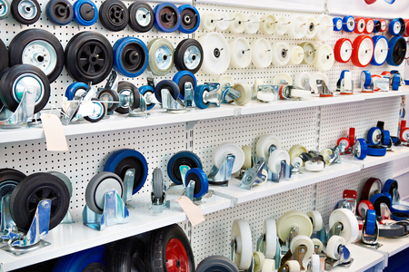 Spare wheels for carts in the store