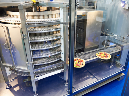 Spiral freezer for food products on exhibition