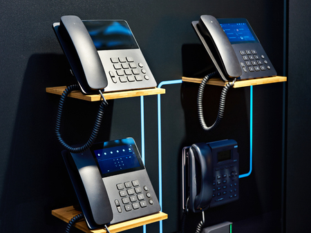 Office telephones for peer to peer technology