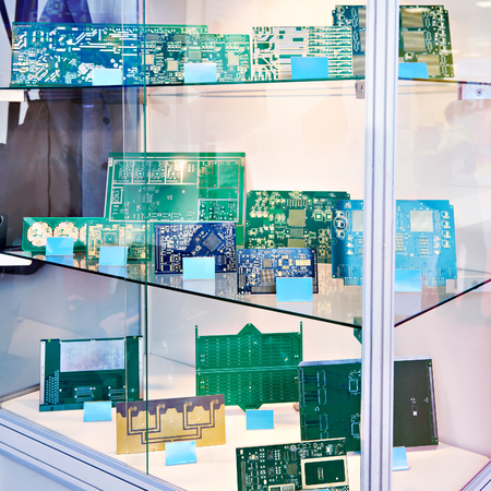 Preform for electronic circuit boards in the storefront Фото со стока
