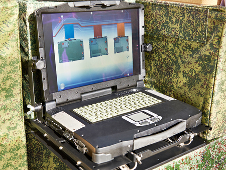 Protected laptop for military and industrial purposes