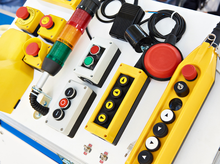 Push button control panels for electrical equipment