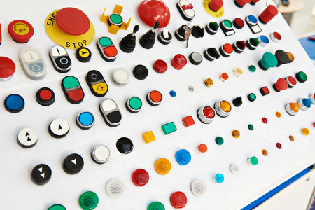 Buttons for control panels for electrical equipment