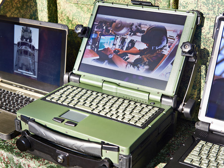 Protected laptops for military and industrial purposes