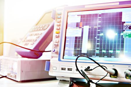 Digital Storage Oscilloscope. Radio measuring instruments Stock Photo