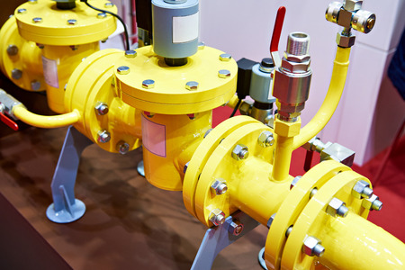 Pipeline with solenoid valve on exhibition