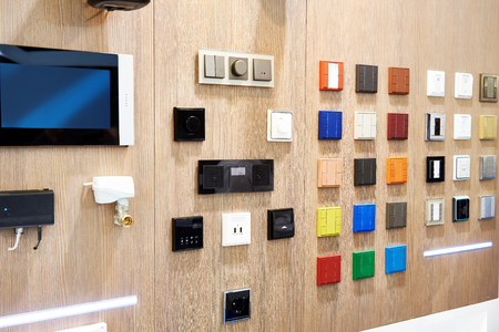 Lighting switches for smart home at store