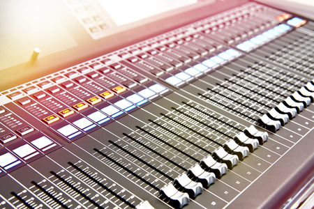 Digital professional audio mixing console