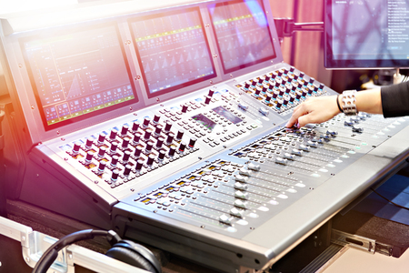 Digital mixing console for modern shows