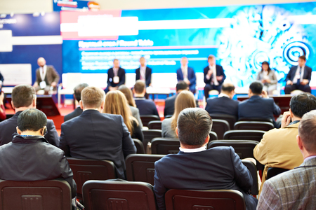 Modern business conference at the exhibition