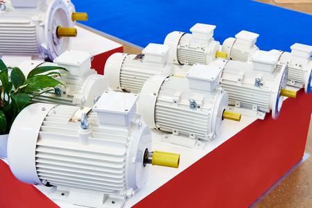 Asynchronous motors at the exhibition Фото со стока