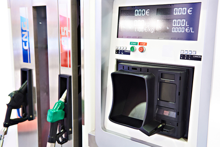 Payment terminal modern filling station for cars