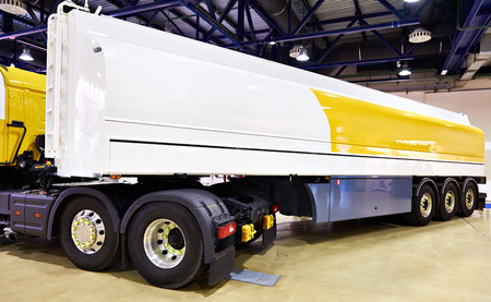 Modern tanker truck on exhibition