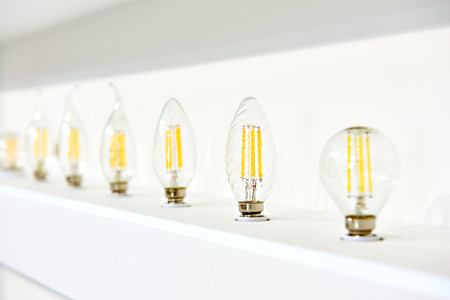 LED lamps in the storefront