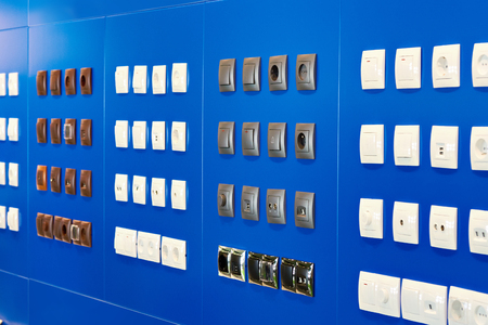 Light switches and sockets in the store