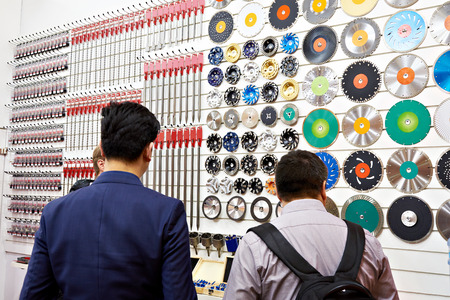 Buyers in the hardware store