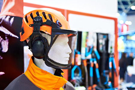 Protective mask with mesh for construction work in the store