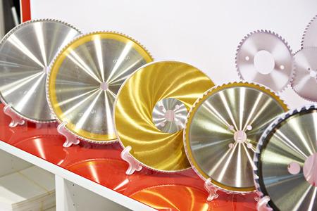 Circular saw machine blades disc in store