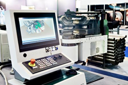 Control panel monitoring Metal forming machine cnc