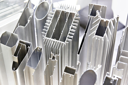Metal profiles at the exhibition