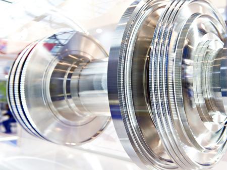 Rotor of gas turbine engine. Exhibition sample