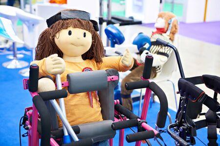 Dolls on children rehabilitation simulators