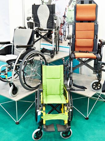 Wheelchairs for the movement of disabled people