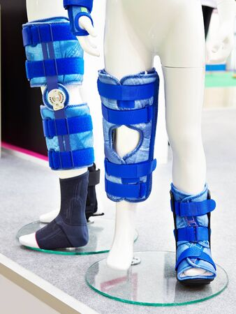 Children on foot orthoses for the knee joint Banco de Imagens