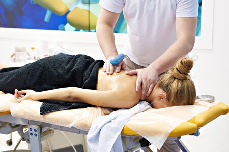 Massages with the electronic device