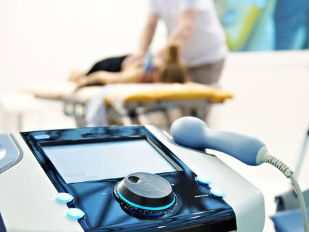 Modern advanced electronic physiotherapy system Banco de Imagens