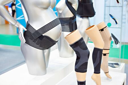 Female compression bandages on exhibition store