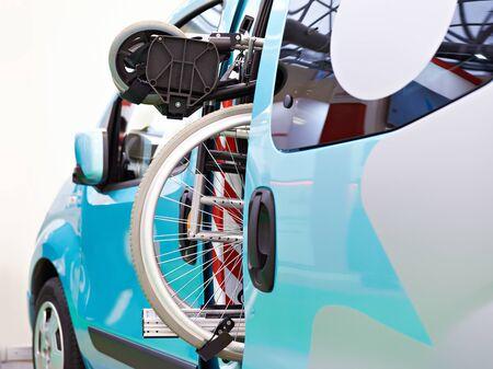Wheelchair folded in the car