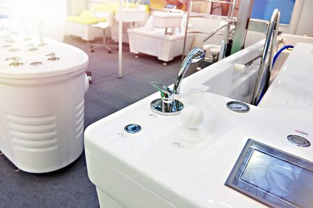 Modern bathtubs in the store