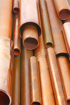 Copper pipes – Plan view of various lengths of copper pipes