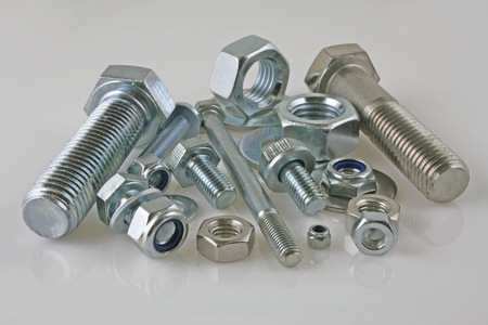 Metal fasteners – A view of nut,bolts and washers