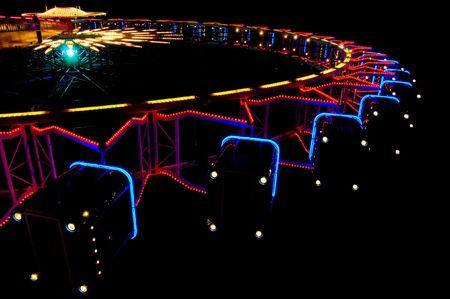Amusement park ride (ferris wheel/big wheel) at night. Stock Photo - 947503