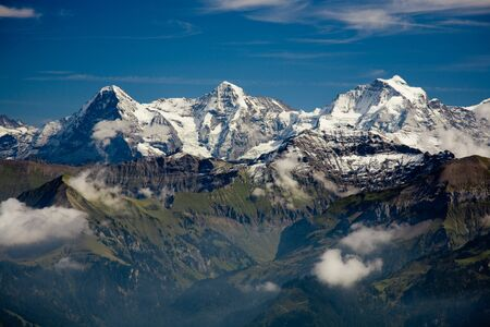 jungfrau: Classical view of the Eiger, Moench and Jungfrau.