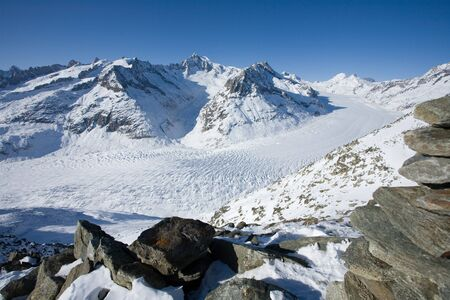 aletsch: The 24km long Aletsch glacier is Unesco World Heritage Site.