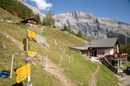 valais: Hiking in Valais Switzerland Derborence.