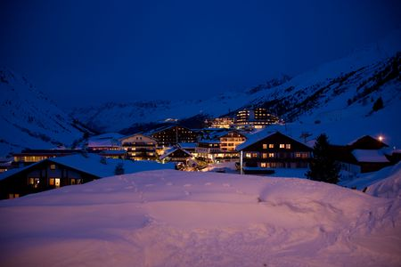 The village of Obergurgl in the Austrian Oetztal. photo