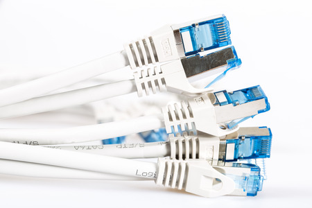 network cables: network cables to the Internet