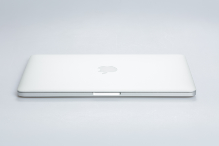 macbook pro: Krynica-Zdroj, POLAND - AUGUST 17, 2016: Photo of a MacBook Pro. MacBook Pro Retina made by Apple Inc.