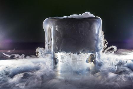 Dry ice smoke Standard-Bild